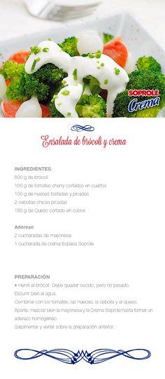 Ensalada de brocoli y crema