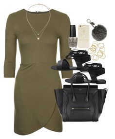 """""""Outfit for autumn"""" by ferned ❤ liked on Polyvore featuring Topshop, Forever 21, OPI and Fendi"""