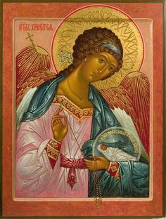 Guardian Angel with Child, Orthodox Christian Icon Archangels, Orthodox Icons, Hagiography, Byzantine Art, Art, Angel, Christian Art, Angel Art, Sacred Art