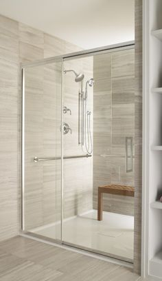 Shower Doors: What To Know Before You Buy: Semi-Frameless Shower Doors