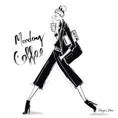 Monday coffee by megan hess illustration days in 2019 график Megan Hess Illustration, Coffee Illustration, Illustration Art, I Love Coffee, Coffee Art, My Coffee, Coffee Shop, Paper Fashion, Fashion Art