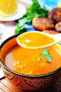 Harira Tchicha (soupe à la semoule d'orge) · soupe de Ramadan.