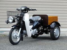 3 Wheel Motorcycle, Electric Cargo Bike, Honda Cub, Amazing Life Hacks, Adventure Gear, Mopeds, Woodworking Furniture, Custom Bikes, Cool Bikes