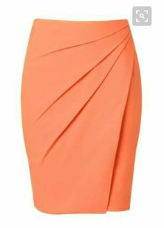 Argentine skirt in coral by SheikeTaupe Pencil Skirt with Pleate Skirt Outfits, Dress Skirt, Work Attire, Mode Style, African Dress, Dress Patterns, African Fashion, Dress To Impress, Designer Dresses
