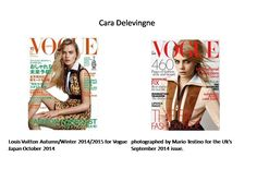 Cara Delevinge-an English fashion model, socialite, actress and singer,covers the front page of vogue