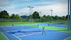 Wimbledon season on?  A game of tennis at our International standard courts…