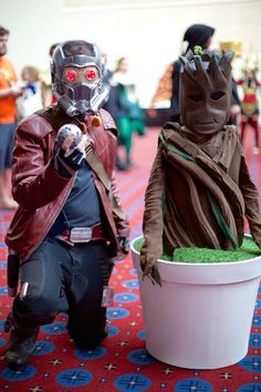 Father And Son Cosplay An Awesome Star-Lord And Groot