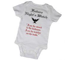 Game Of Thrones Onesie- Future Nights Watch!