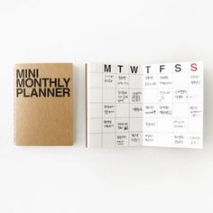 Monthly Planner Notebook / Monthly Diary / Kraft by DubuDumo, $3.50