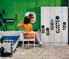 theswingingsixties: Cute 1960s bedroom decor.   mikkipedia