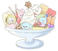 sticker by 💗 BTS. Discover all images by 💗 BTS. Cute Food Drawings, Cute Kawaii Drawings, Bts Drawings, Kawaii Art, Cute Disney Wallpaper, Cartoon Wallpaper, Bts Wallpaper, Aztec Wallpaper, Pink Wallpaper