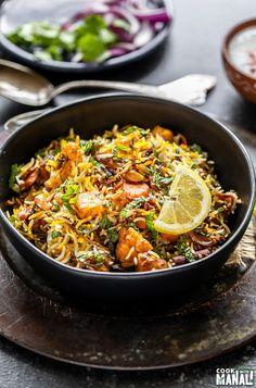 Vegetarian Biryani, Vegetarian Recipes, Cooking Recipes, Healthy Recipes, Veg Biryani Recipe Indian, Rice Recipes, Biryani Rice Recipe, Savoury Recipes, Rice