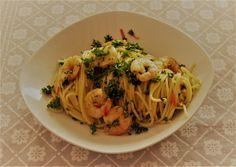 Shrimp, Chili, Spaghetti, Food And Drink, Pasta, Ethnic Recipes, Chile, Chilis, Noodles
