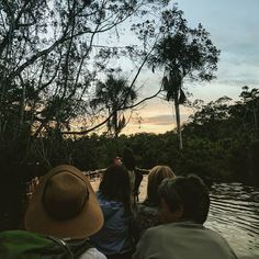 One of the most memorable moments of our #Amazon trip was when we first arrived at our eco lodge.  Our flights had been delayed so we were getting there a little later but we couldn't have planned it out more perfectly to capture the beautiful #sunset while paddling through the jungle - absolutely breathtaking!