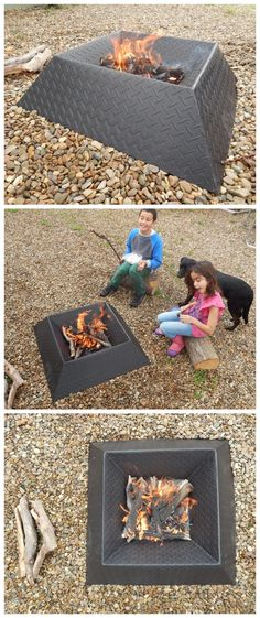 How to Make a Cool and Compact Fire Pit from Half a Sheet of Steel #outdoors #camping #summer #metalworking