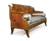 A Russian Neoclassical brass-mounted carved mahogany sofa circa 1800  SOLD. 16,250 USD