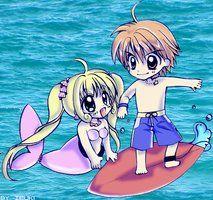 Lucia and Kaito Mermaid melody