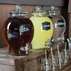 This Country Chic Glass Beverage Dispenser is the perfect choice for both formal and informal gatherings. Serve your drinks in style with a Country Chic Glass Beverage Dispenser! We will do our best to solve any problems you may have. Graduation Party Decor, Grad Parties, Outdoor Graduation Parties, Graduation Desserts, Graduation Centerpiece, Graduation Ideas, Dinner Parties, Graduation Gifts, Deco Baby Shower