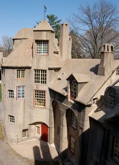 Fonthill - a dream house of concrete realized by Henry Mercer. May not be the prettiest, but it's certainly one of the most interesting mansions I've ever seen.