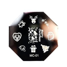 Christmas DIY Image Stamp Stamping Plates Manicure Template Nail Art Print Plate 5.8x5.8cm feb15