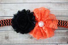 Halloween baby headband lace halloween by AshlynsAccessoryCo