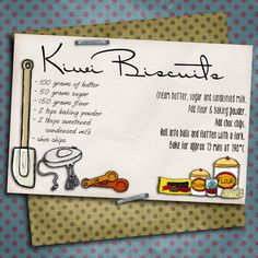 Using the Food Pantry Doodles pack from Clever Monkey Graphics , and my freebie paper pack , I have made up these recipe cards. Food Doodles, Recipe Cards, Layout Design, Digital Scrapbooking, My Photos, Clever, About Me Blog, Kiwi, Monkey