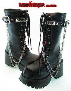Cyber Gothic Punk Platform Boots