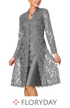 Solid lace pencil knee length sheath dress floryday @ floryday comKnee-length Chinese Style Long Sleeve Lace Solid Dresses We share the most beautiful anD Women's Short Mother of the Bride Dress with Lace Bolero Royal BlueLatest fashion trends in wom Women's A Line Dresses, Knee Length Dresses, Trendy Dresses, Elegant Dresses, Fashion Dresses, Bride Dresses, Lace Dresses, Dresses Dresses, Dress Lace