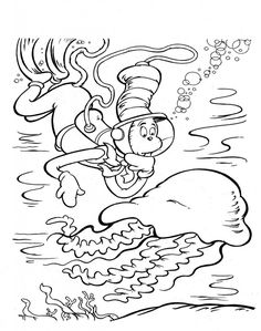 Stunning Dr Seuss Coloring Pages 98 Cat in the Hat