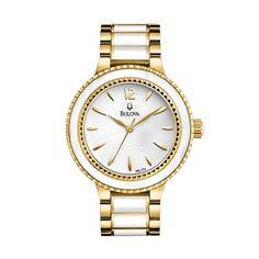 328ff81e51a Bulova Watch - Women s Sport Gold Tone Stainless Steel and Ceramic - 98L173 Relógio  Feminino