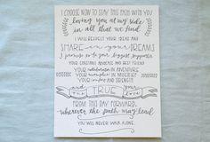 Custom 8x10 Hand-Lettered Wedding Vows Print