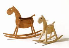 Sedia a dondolo per bambini (mista) ROCKING HORSE MUSTANG sixay furniture