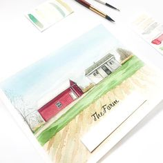 I totally dream of living on a farm. I love all the animals and for some reason I love really hard labor intensive work.  What is your crazy dream house?  Get your mom the best Mother's Day gift with a house portrait. Head to the shop link in bio @priscillageorgeart