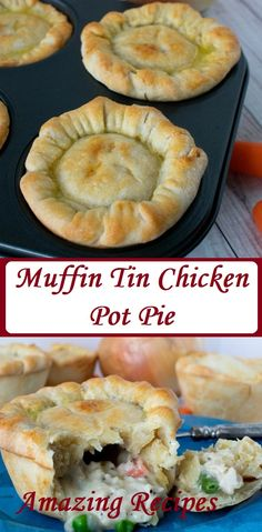 Ready for a new spin on a family classic? Try out our muffin tin chicken pot pies! Theyre flaky savory delicious little pies that everyone will love! Hamburger Stroganoff, Most Popular Recipes, Great Recipes, Favorite Recipes, Amazing Recipes, Delicious Recipes, Recipe Ideas, Easy Recipes, Gourmet Recipes