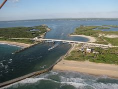 A view of the Sebastian Inlet and recently constructed Inlet Grill and Gifts