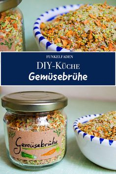 Recipe for homemade vegetable broth - DIY Dried vegetables .- Recipe – From dried vegetables is a healthy vegetable broth without artificial additives. Just do it yourself and be nice as a DIY gift for Christmas - Recipes With Vegetable Broth, Homemade Vegetable Broth, Vegetable Stock, Dried Vegetables, Healthy Vegetables, Food Blogs, Diy Food, Nutella, The Best