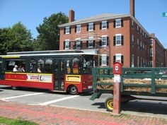 """Winifred: """"Well, tell me then, what do you call this contraption?""""   Bus Driver: """"I call it... a bus."""" (- Hocus Pocus) Actually this is our own Salem Trolley which conveys passengers around town complete with tour guide narration. http://www.salemtrolley.com/"""