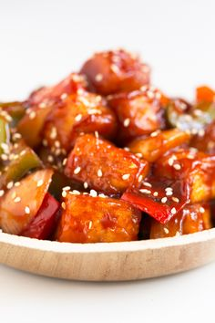 Sweet and Sour Tofu. - Sweet and sour tofu, made in just 30 minutes. A plant-based version of this classic Chinese food that is much better and healthier than take out! Veggie Recipes, Vegetarian Recipes, Cooking Recipes, Healthy Recipes, Cooking Blogs, Simple Tofu Recipes, Firm Tofu Recipes, Cooking Tofu, Pescatarian Recipes