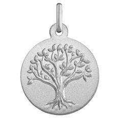 Medaille Laïque argent Mon Premier Bijou Médaille Arbre de vie (argent massif) sur PremierCadeau.com