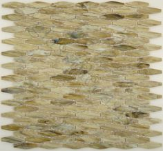 Dynamic Surfaces  Linea Onde Collection, Oval, Forest, Glossy, Cream/Beige, Glass