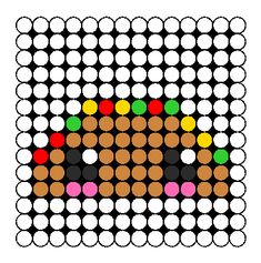 Kawaii Taco Perler Bead Pattern / Bead Sprite