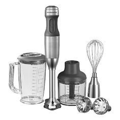 Kitchenaid 5KHB2571BSX Using the KitchenAid 5KHB2571BSX Hand Blender could not be easier, with its 180W motor and its 5 speed settings slicing, dicing and blending is quick and efficient whatever the ingredients you choose  http://www.MightGet.com/may-2017-1/kitchenaid-5khb2571bsx.asp