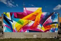 Artist MadC beautiful & colourful Street art mural located in Leipzig, Germany,