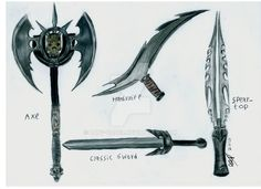 "What is a Yautja without his weaponary? They just need good stuff for their hunts and I sucked at drawing good weapons: Spear sucks: <da:thumb id=""462958985"">  <da:thumb id=""458758163..."