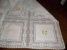 Large collection of filet crochet and crochet table linens. Filet Crochet, Crochet Motif, Crochet Doilies, Crochet Flowers, Knit Crochet, Crochet Patterns, Crochet Fabric, Crochet Tablecloth, Crochet Home