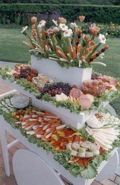 Cool New York Caterer  Garden Cart Appetizer Wedding quinceanera Events Celebrations  +++ Elegante y creativo CARRO DE APERITIVOS  en jardin boda quinceañera eventos celebraciones fiestas