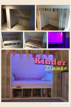 Bett In Dachschräge Aus Gipskarton Und Ikea #drywall #roofsloping #dreambed