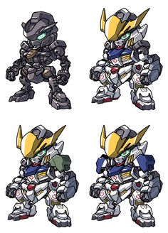 Gundam Barbatos the 1st Form to 3rd Form