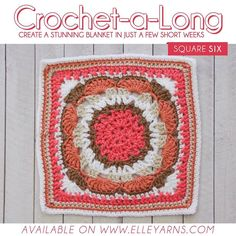 CROCHET-A-LONG SQUARE 6!  We're halfway there already! How are your squares going... are you keeping up? Remember to complete the blanket you need to make 2 squares of each pattern. And remember to show us what they look like we'd love to see! LINK TO DOWNLOAD IN BIO  Colours needed for this square (Family Knit DK): Watermelon 205 Coral Rose 054 White 001 Gravel 075 Antique 049  Show us your squares by using #calwithelleyarns on your posts or simply tag us @elle_yarns  #elleyarns #cal…