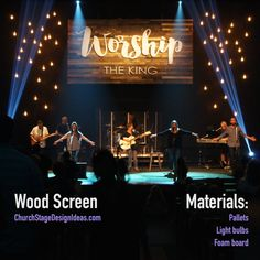 Wood Screen - http://www.churchstagedesignideas.com/wood-screen/
